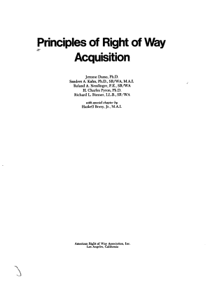 Principles of Right of Way Acquisition PDF