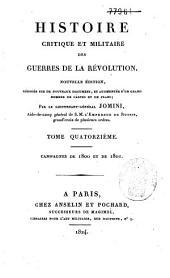 Histoire critique et militaire des guerres de la révolution: Campagnes de 1800 et de 1801, Volume14