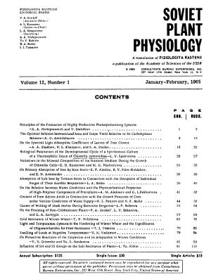 Soviet Plant Physiology PDF
