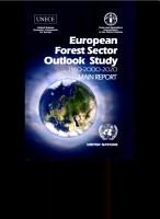 European Forest Sector Outlook Study 1960 2000 2020 PDF