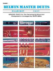 Belwin Master Duets - Clarinet, Easy, Volume 1: Volume 1