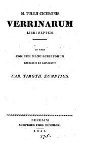 M. Tullii Ciceronis Verrinarum libri septem