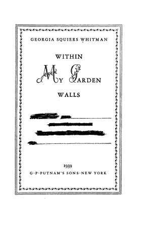 Within My Garden Walls PDF