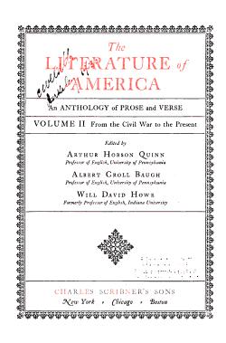 The Literature of America PDF