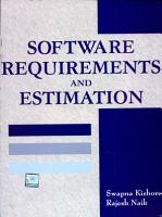 Software Requirements And Estimation PDF