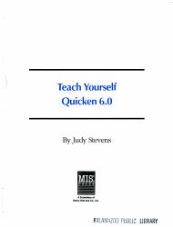 Teach Yourself Quicken 6 0 PDF