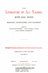 The literature of all nations and all ages: history, character, and incident, Volume 2