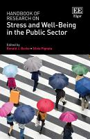Handbook of Research on Stress and Well Being in the Public Sector PDF
