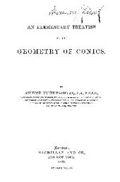 AN ELEMENTARY TREATISE ON THE GEOMETRY OF CONICS.