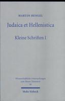 Judaica et Hellenistica PDF