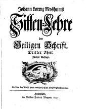 Sitten-Lehre Der Heiligen Schrift: 3