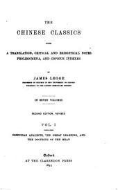 The Chinese Classics: Volume 1
