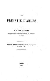 La Primatie d'Arles