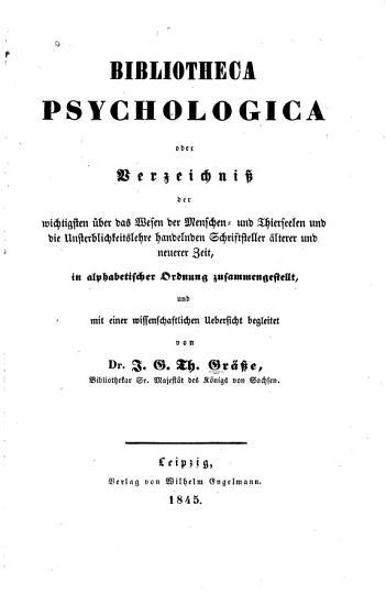 Bibliotheca psychologica PDF