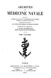 Archives de médecine navale: Volume 20