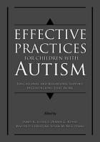 Effective Practices for Children with Autism PDF