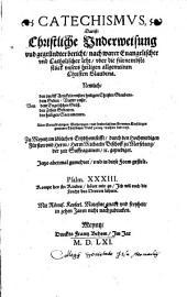 Catechismus, das ist Christliche Underweisung