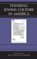 Thinking Jewish Culture in America PDF
