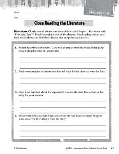 My Brother Sam Is Dead Close Reading and Text Dependent Questions Book