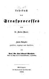 Lehrbuch des Strafprocesses