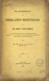 De oorsprong van Neerland's bezittingen op de kust van Guinea