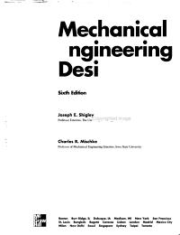 Mechanical Engineering Design PDF
