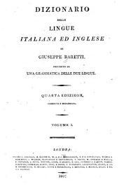 Dizionario delle lingue italiana ed inglese: Volume 1
