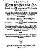 Tractat vom Machen und Gebrauch eines neugeordneten mathematischen Instruments (etc.)