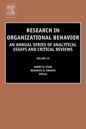 Research in Organizational Behavior: Volume 25