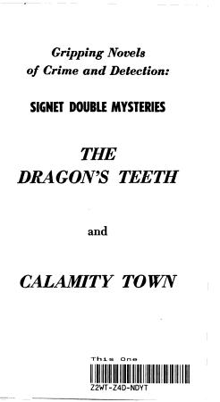 THE DRAGON S TEETH   CALAMITY TOWN PDF