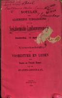 Notulen der algemeene vergadering op Donderdag 14 April 1892 PDF