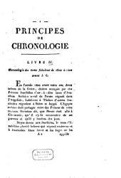 Principes de chronologie: Chronologie des tems fabuleux de 1600 à 1400 avant J. C.
