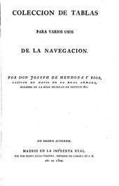 Colección de tablas para varios usos de la navegación