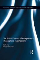 The Textual Genesis of Wittgenstein   s Philosophical Investigations PDF