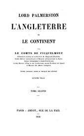 Lord Palmerston, l'Angleterre et le continent: Volume1