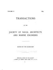 Transactions of the Society of Naval Architects and Marine Engineers: Volume 2