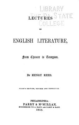 Lectures on English Literature  from Chaucer to Tennyson