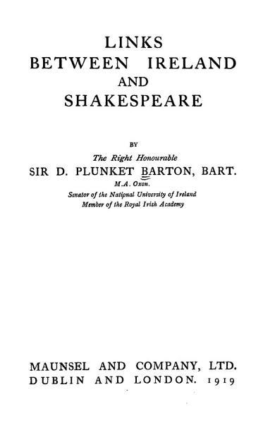 Links between Ireland and Shakespeare