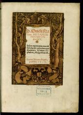 P. Ouidii Nasonis Metamorphoseon libri XV.: Index repertorius, omniu[m] fabularum, ad numerum chartarum, & seriem Alphabeti, illis [a]ppositus est