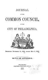 Journal of the Common Council, of the City of Philadelphia, for ...