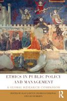 Ethics in Public Policy and Management PDF