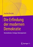 Die Erfindung der modernen Demokratie PDF