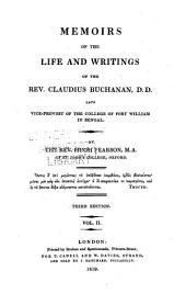Memoirs of the Life and Writings of the Rev. Claudius Buchanan: Volume 2