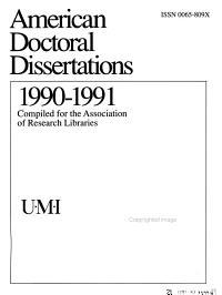American Doctoral Dissertations PDF