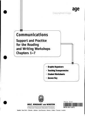 Elements of Language  Grade 7 Communications PDF