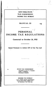Personal Income Tax Regulations ... and Unincorporated Business Tax [regulations]
