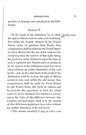 Fur Seal Arbitration: Proceedings of the Tribunal of Arbitration, Convened at Paris, Under the Treaty Between the United States ... and Great Britain, Concluded at Washington, February 20, 1892, for the Determination of Questions Between the Two Governments Concerning the Jurisdictional Rights of the United States in the Waters of Bering Sea