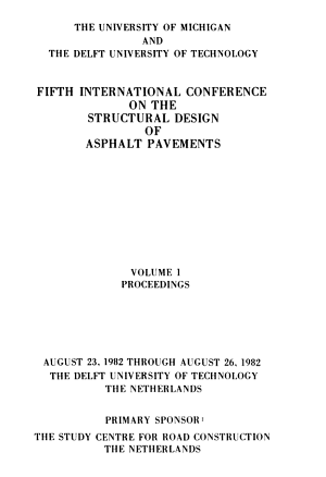 Fifth International Conference on the Structural Design of Asphalt Pavements  Proceedings PDF