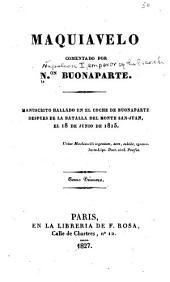Maquiavelo comentado: Volumen 10274
