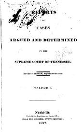 Reports of Cases Argued and Determined in the Supreme Court of Tennessee: Volume 9